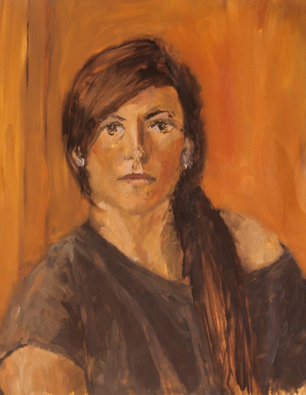 Martha 2012 olieverf op papier 65 x 50