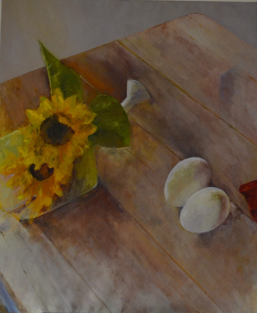 Zonnenbloemen 2014 olieverf op linnen 110x100
