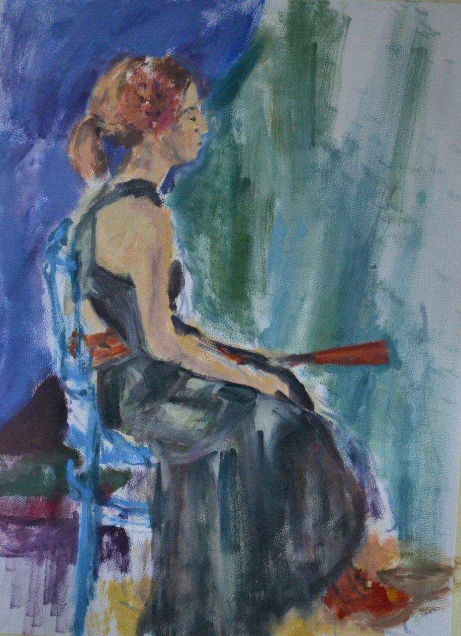 Sara ( Columbia) 2014 olieverf op papier 55 x 75