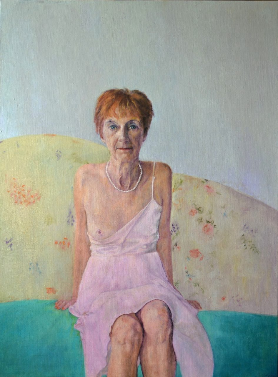 Serie: Greatest Generation Lucy in rose 2015 olieverf op linnen 100x75