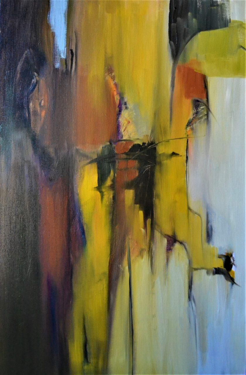 Abstract 1 2018 Olieverf op doek