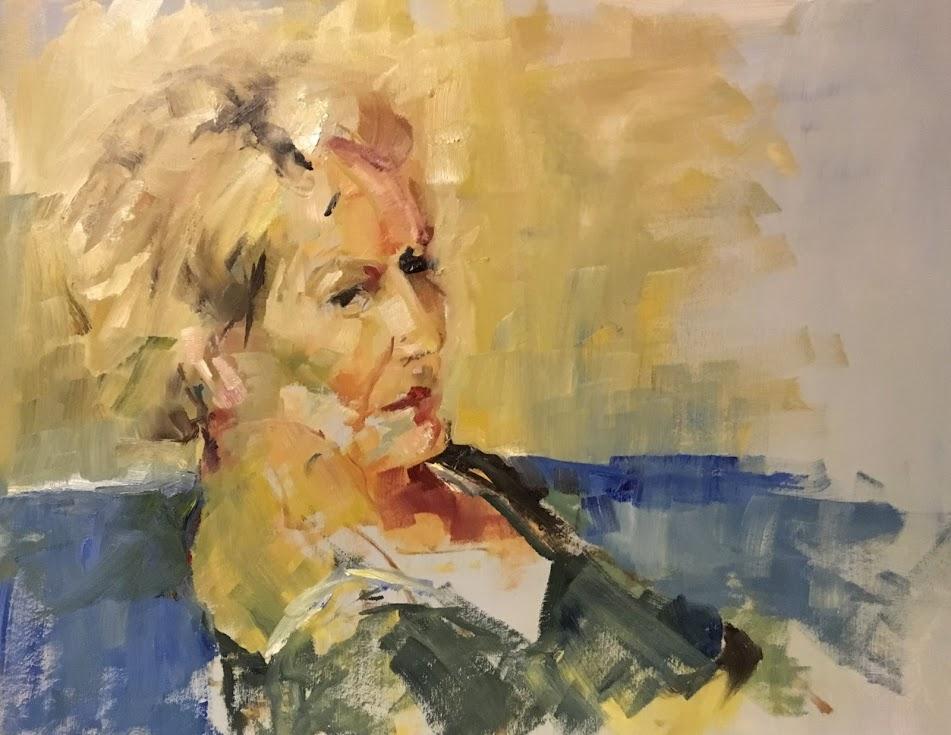 Paulinka 2018 Olieverf op papier 65x45
