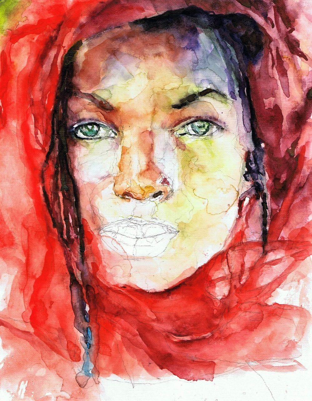 Marianne Snoek 253 Afrikaanse Vrouw Met Vlechten 3