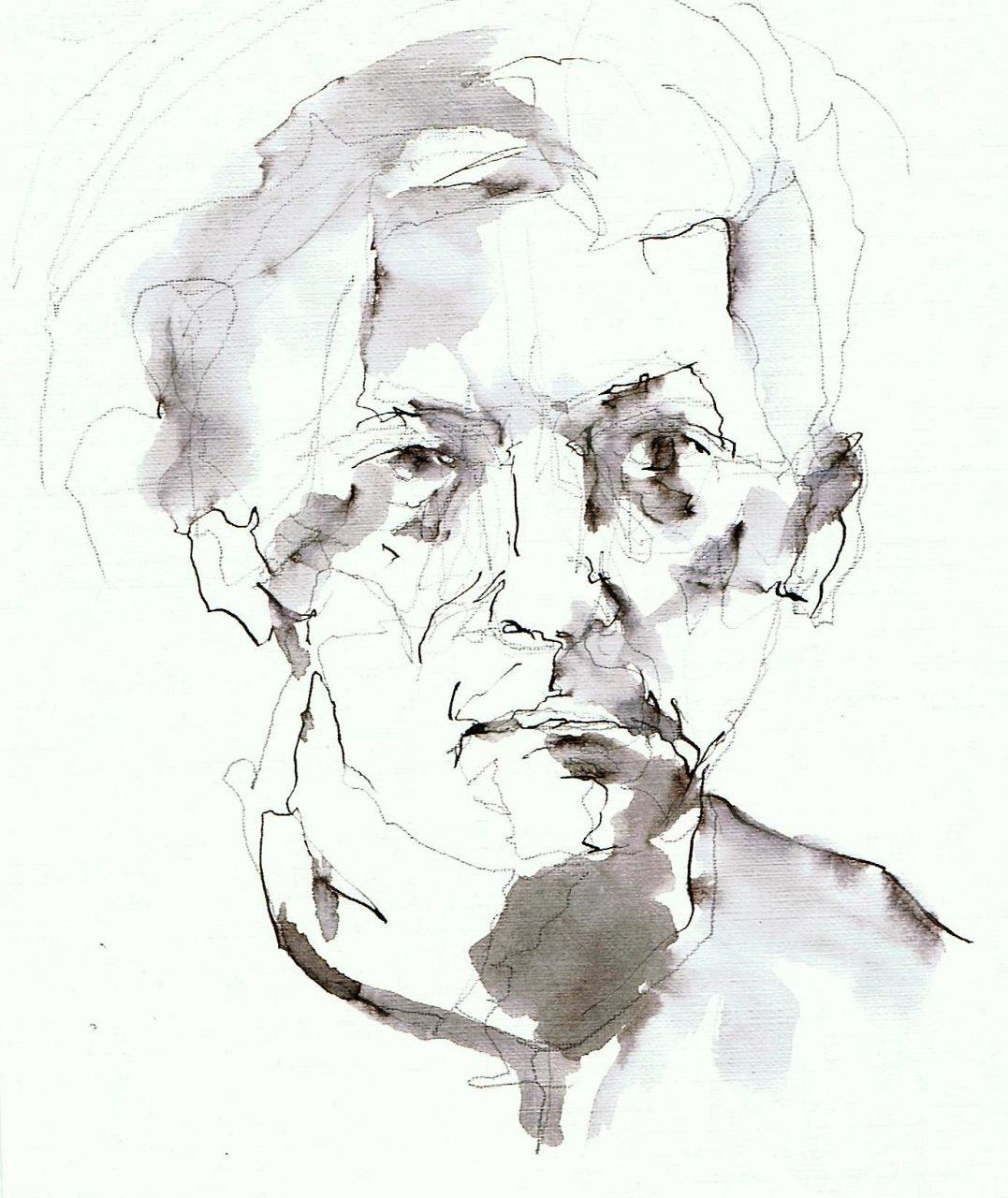 365 dagen een portret Cleas Jansson, Noorwegen Pen en inkt 19c25