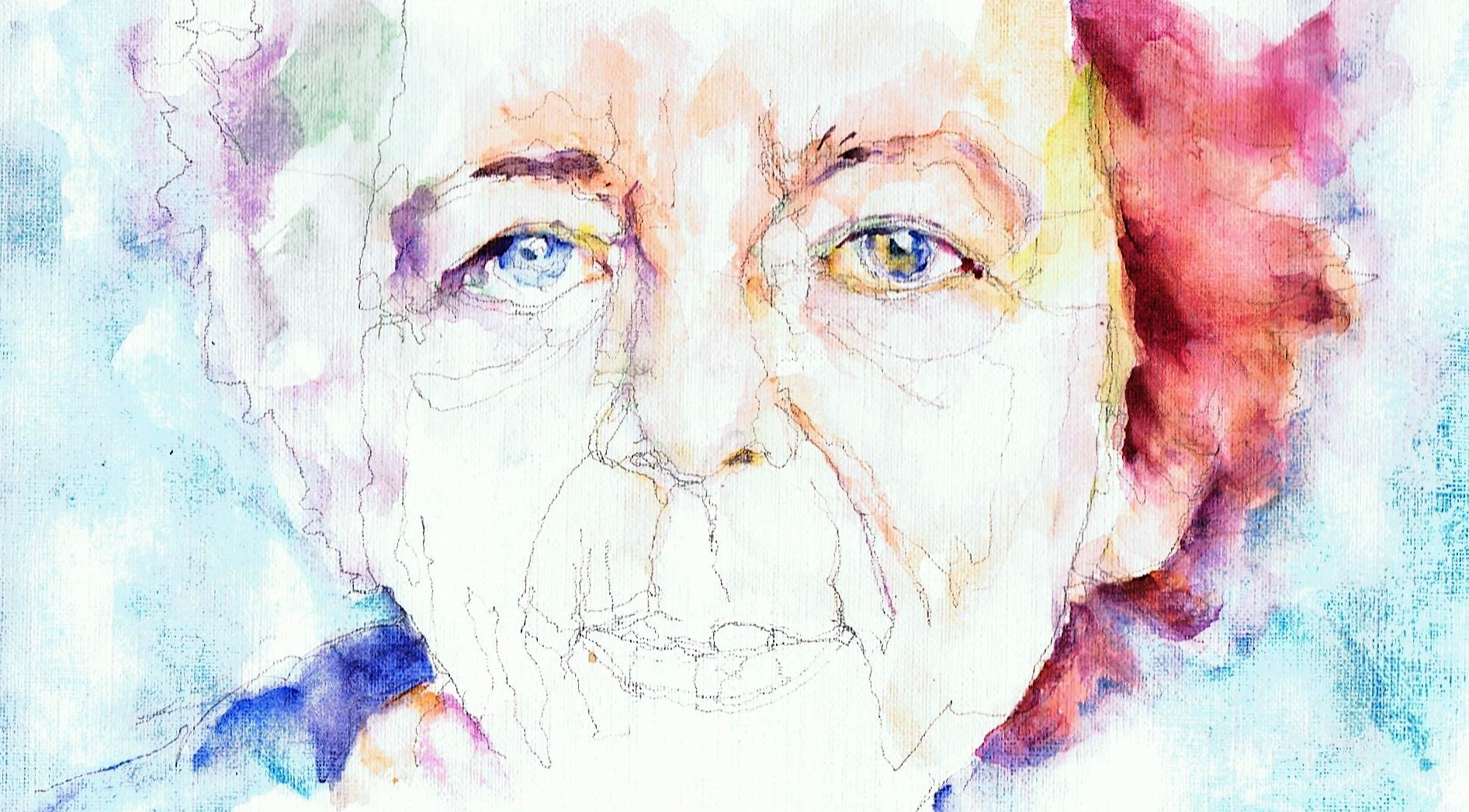 365 dagen een portret Renate Dorrestein, schrijfster Aquarel 19c25
