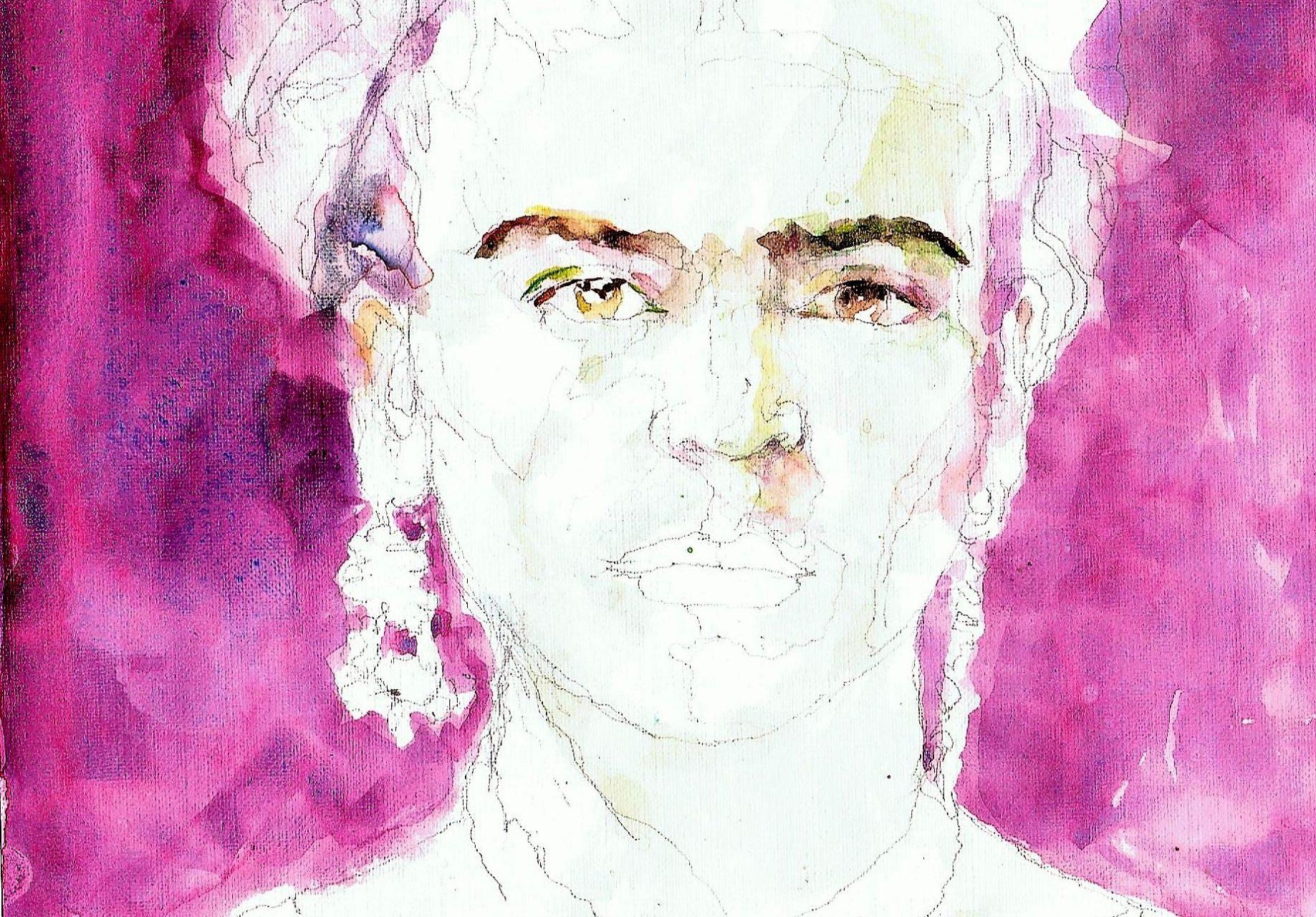 365 dagen een portret 183 Frida Kahlo (2) Aquarel 19c25