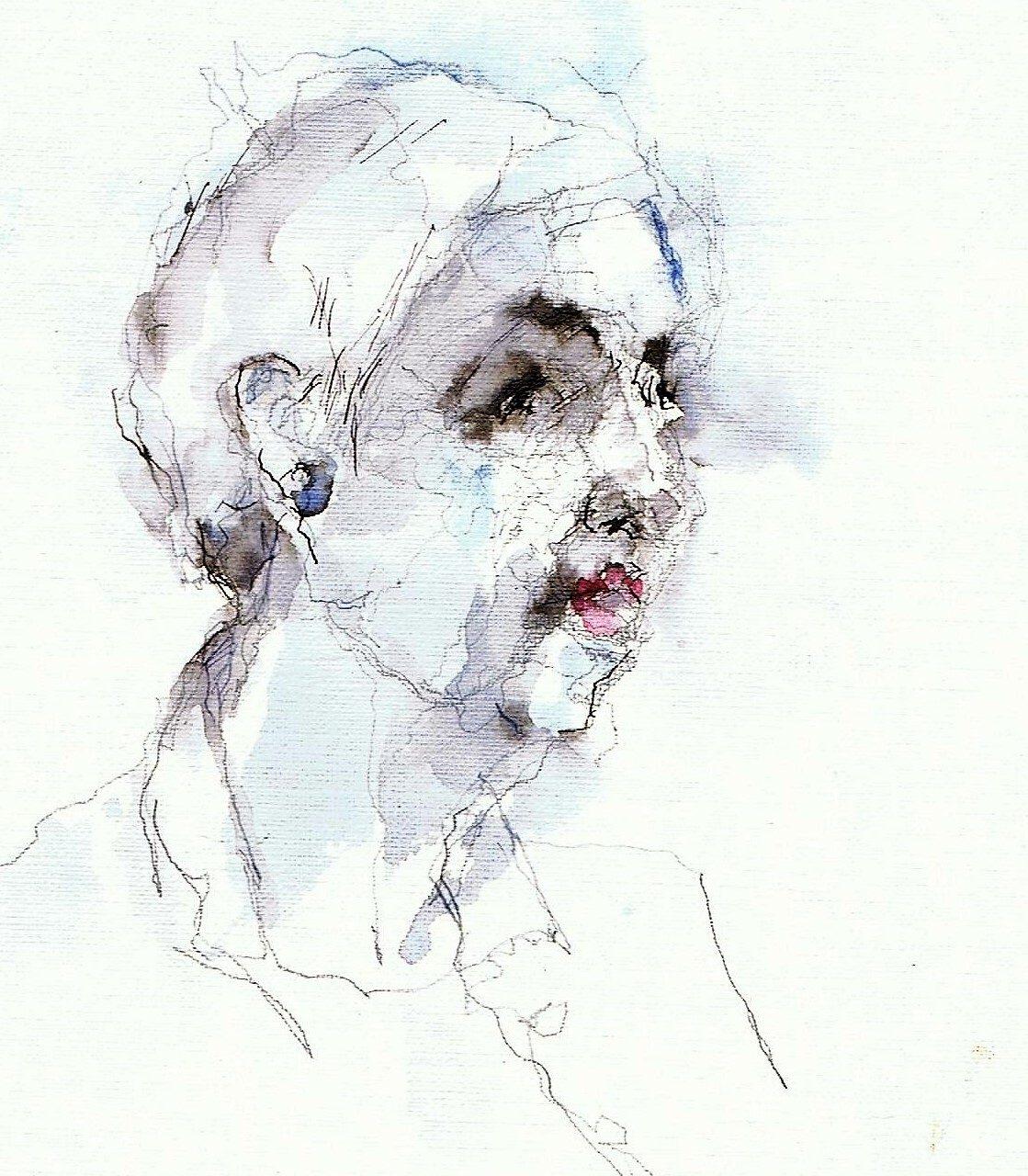 365 dagen een portret 181 Maria, model Aquarel 19c25
