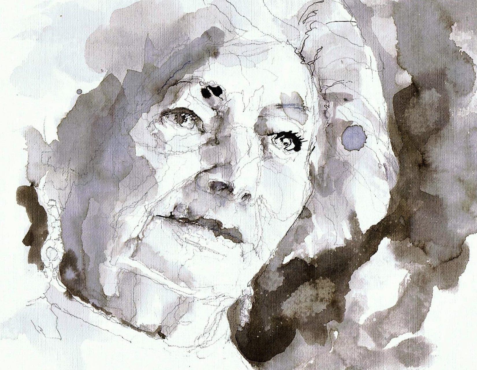 365 dagen een portret 175 Ata Kandó, fotografe Gewassen inkt 19c25