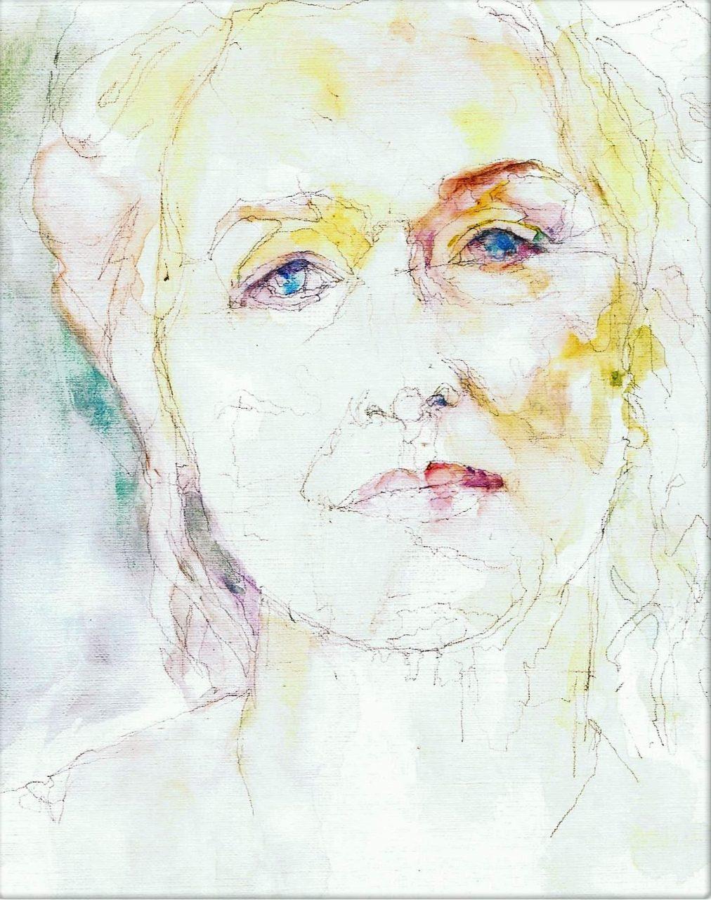 365 dagen een portret Meryl Streep, actrice Aquarel 19c25
