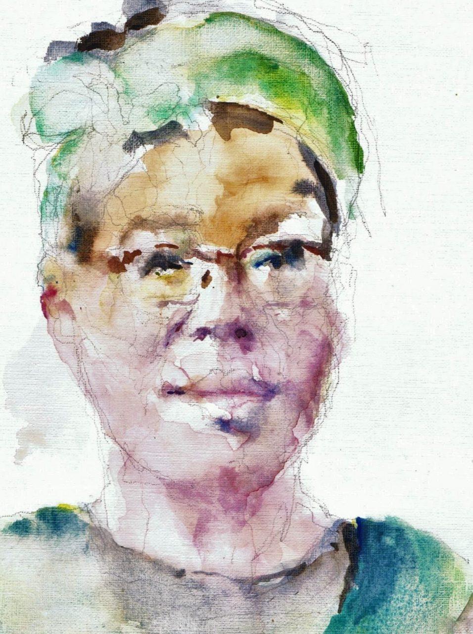 365 dagen een portret Vicky, model Aquarel 19c25