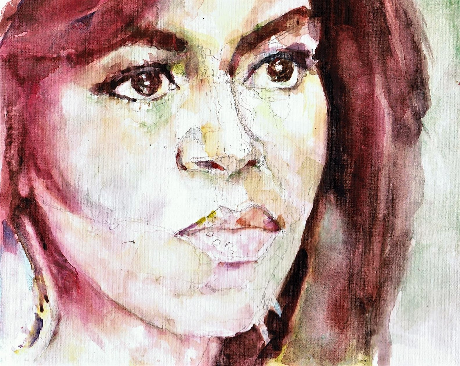 365 dagen een portret Michelle Obama, First Lady VS Aquarel 19c25