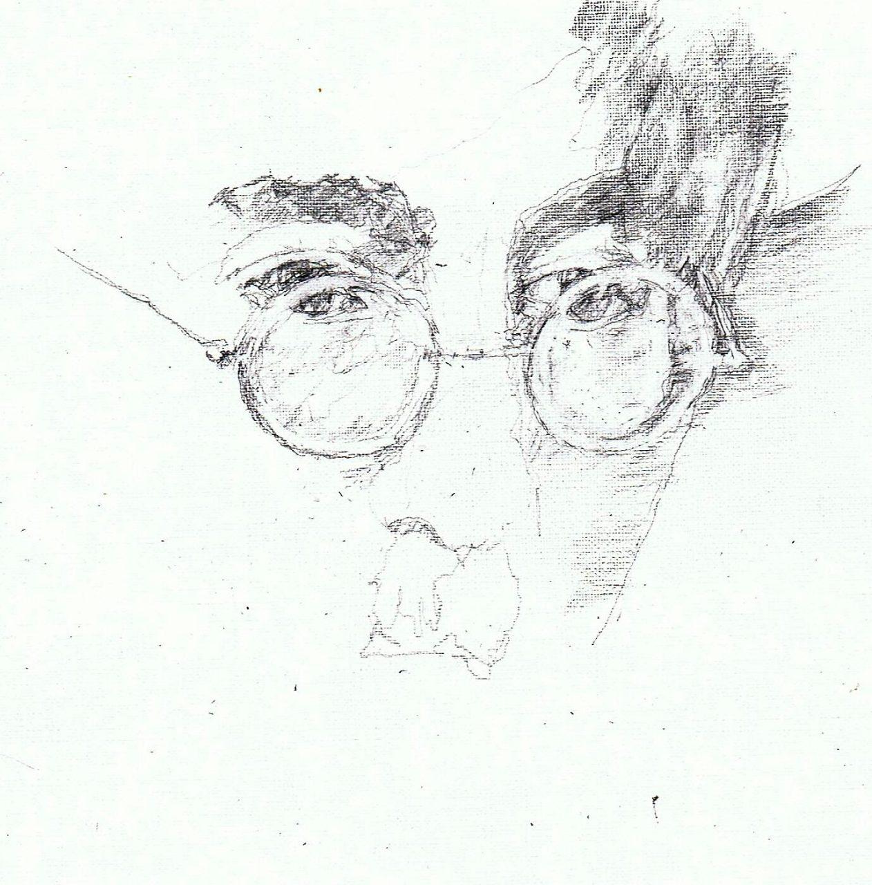 365 dagen een portret John Lennon Potlood 19c25