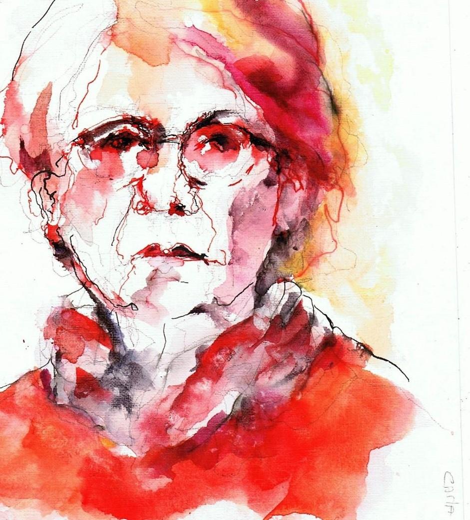 365 dagen een portret Carla, model Aquarel 19c25