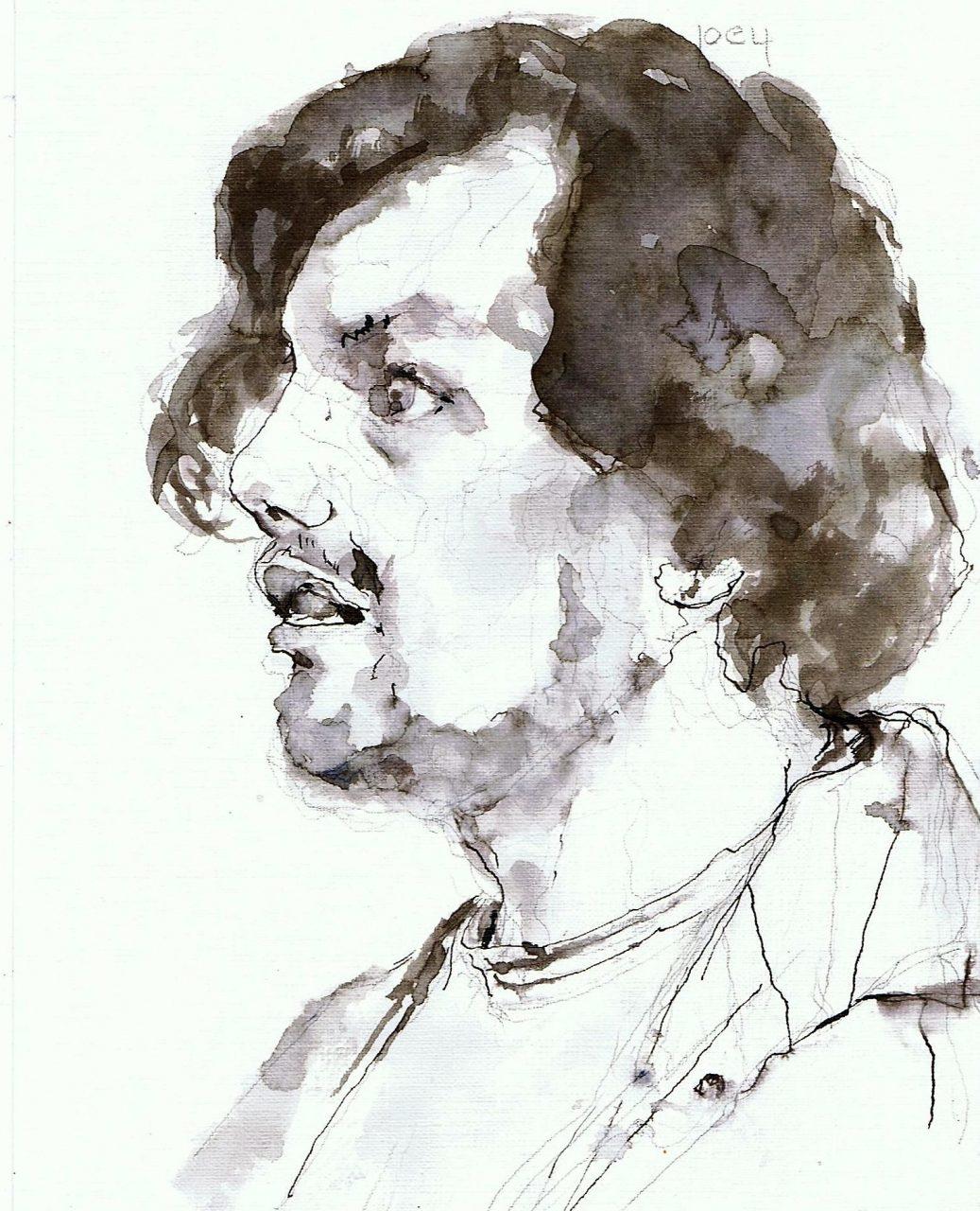 365 dagen een portret Joey, model Inkt 19c25