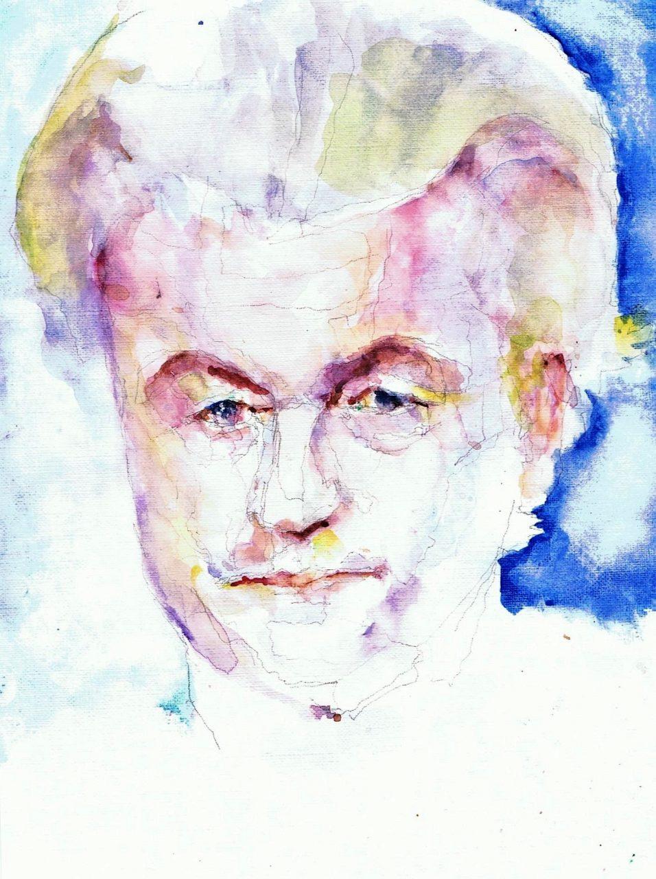Geert Wilders 2017 Aquarel 19x35