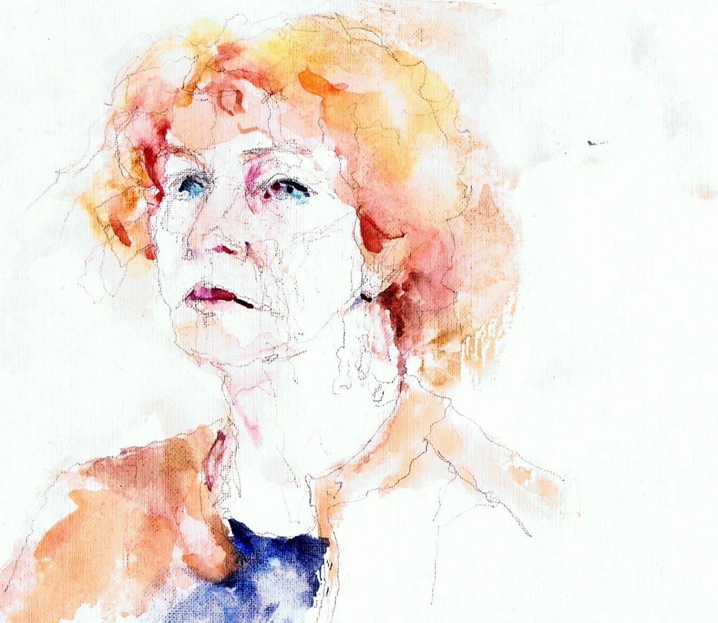 365 dagen een portret Anna, model Aquarel 19c25