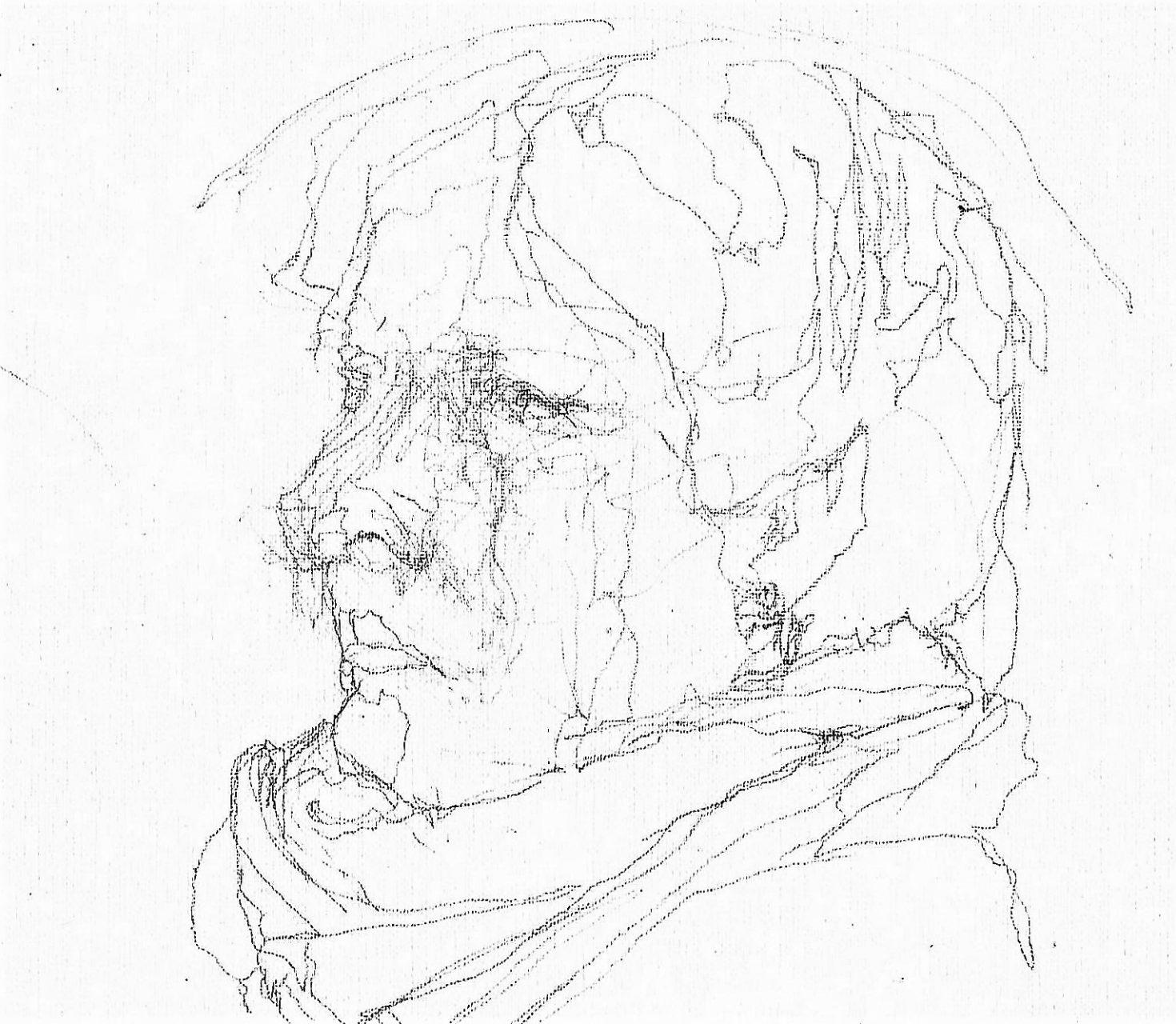 365 dagen een portret Marion, model Tekening 19c25