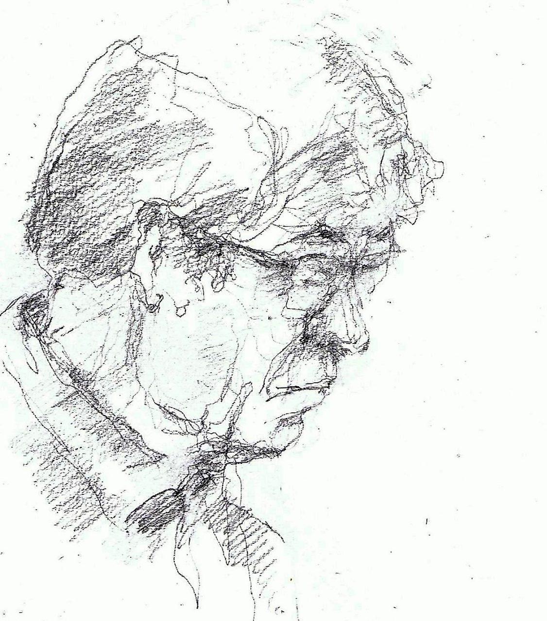 365 dagen een portret Hans, model Tekening 19c25