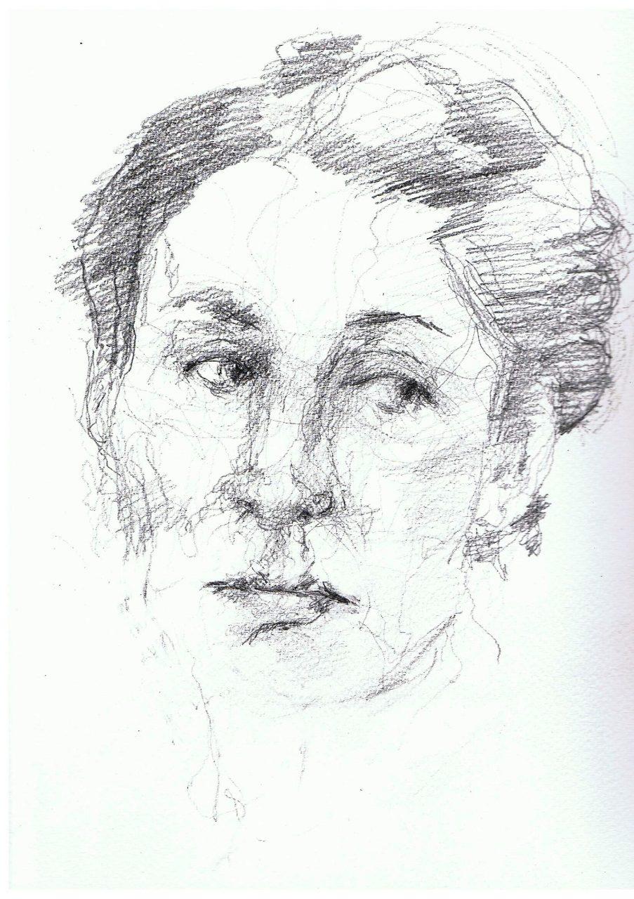 365 dagen een portret Athene, model Tekening 19c25