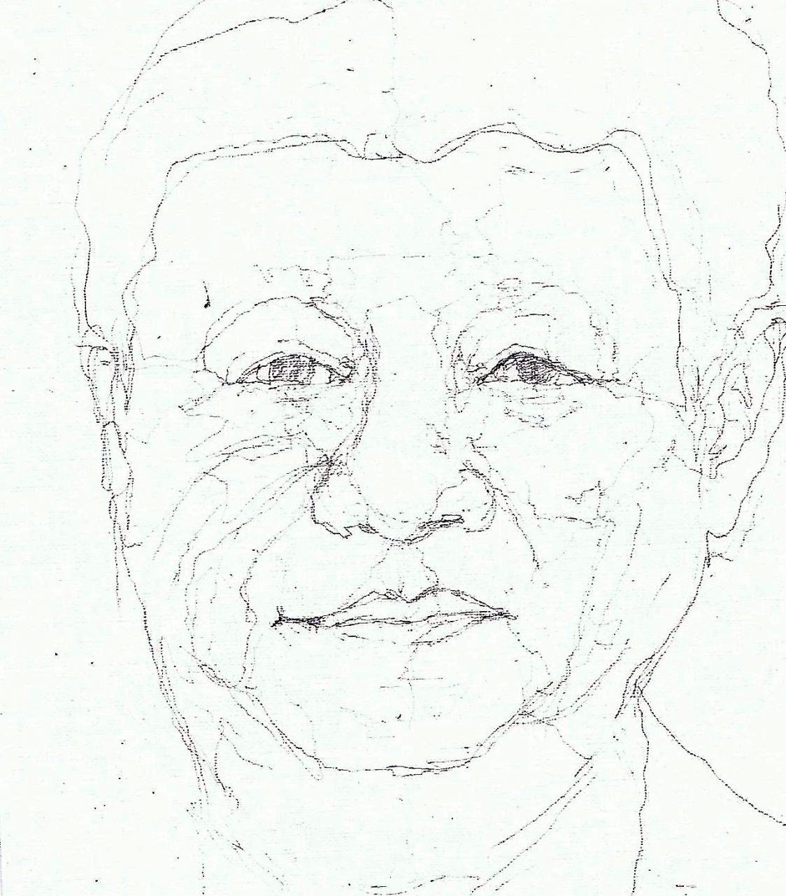 365 dagen een portret Xi Linping , president China Tekening 19c25