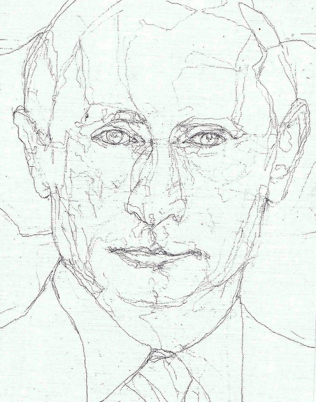 365 dagen een portret Vladimir Poetin, president USSR Tekening 19c25