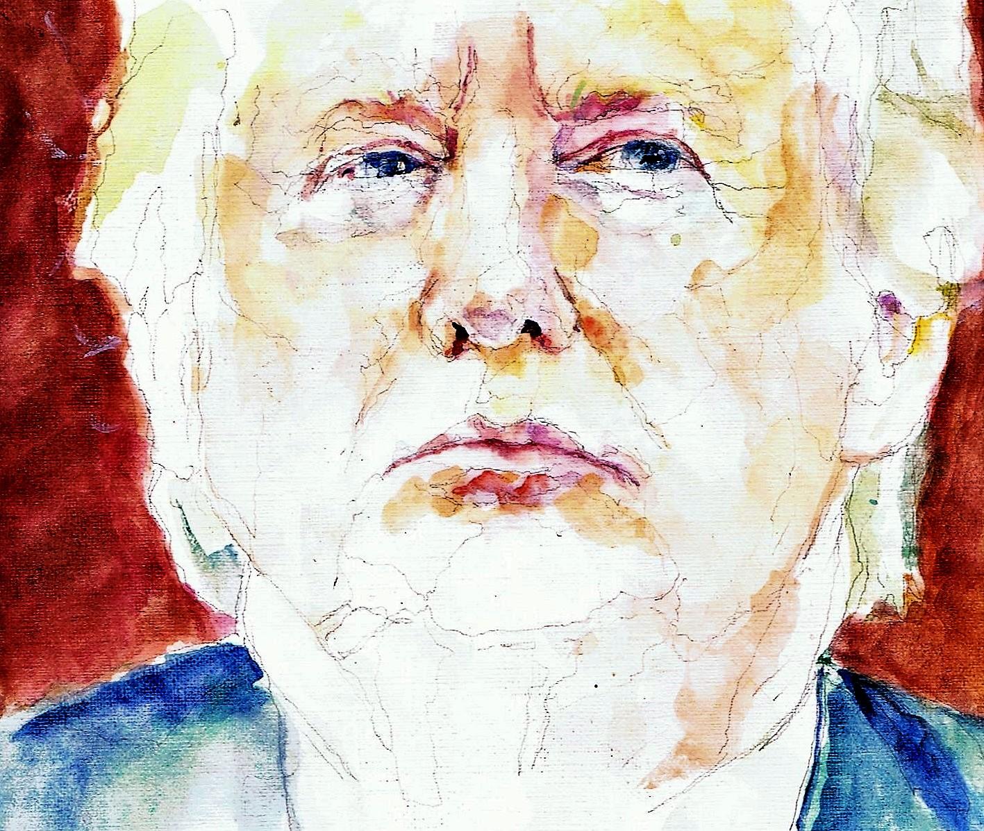 365 dagen een portret Donald Trump, president VS Aquarel 19c25