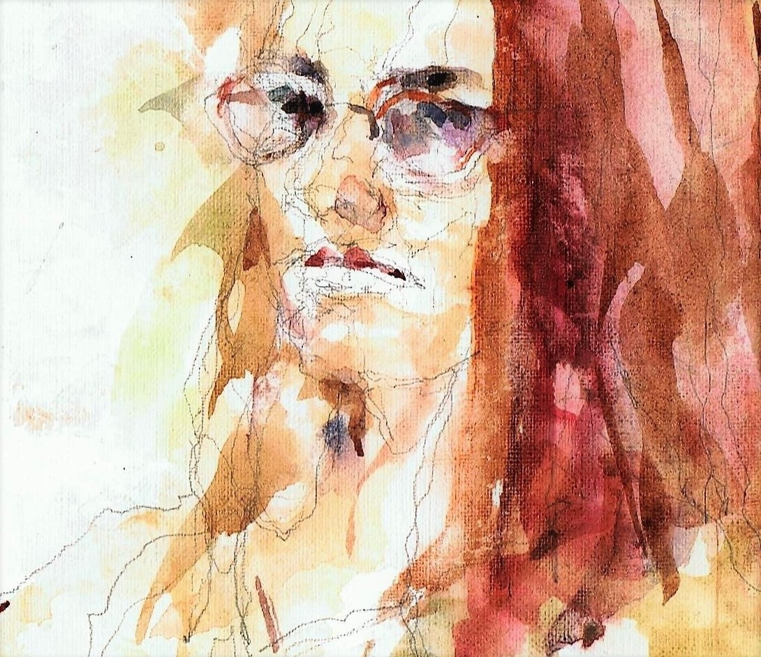 365 dagen een portret Manon, model Aquarel 19c25