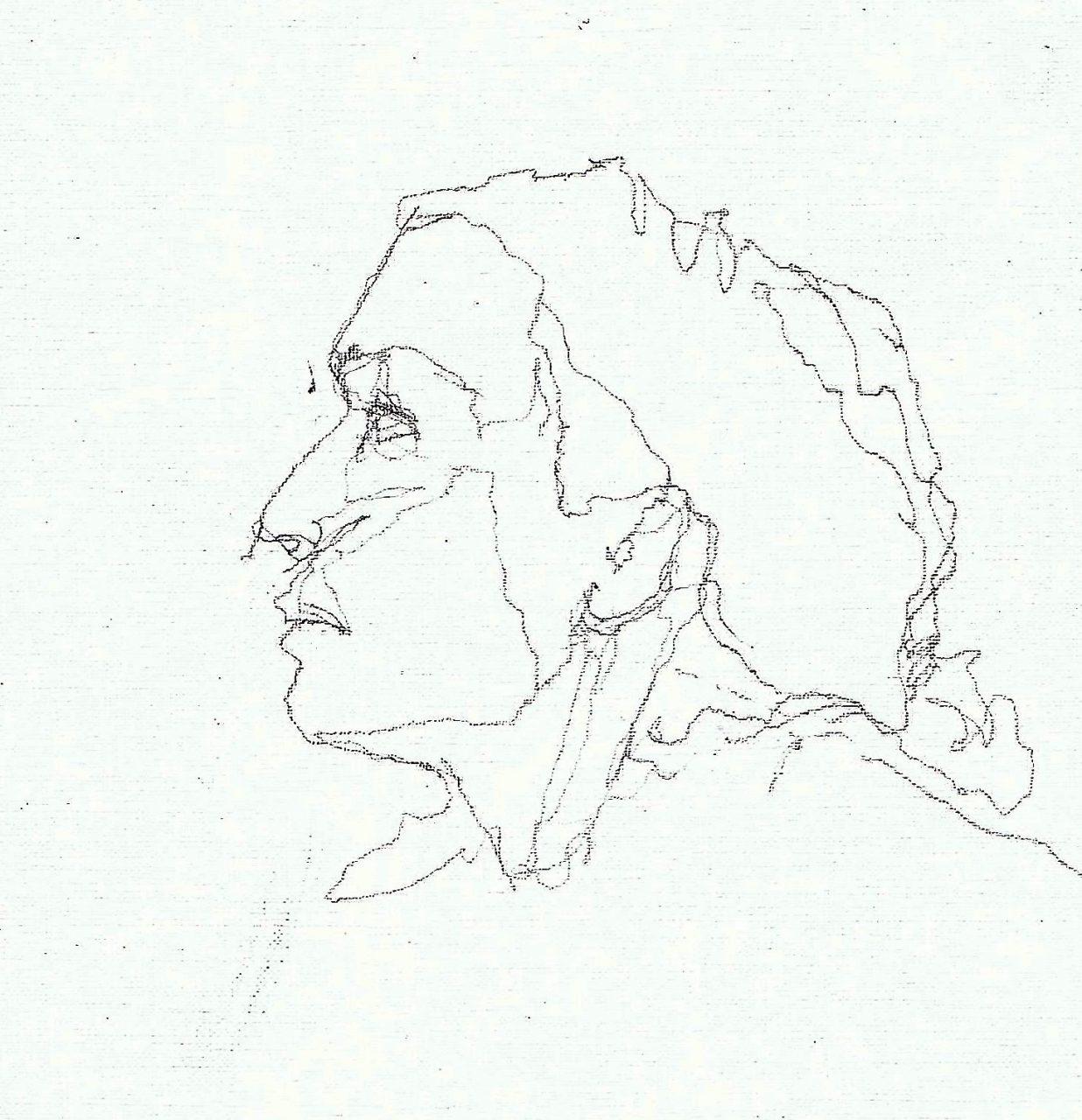 365 dagen een portret Irraby, model Aquaarel 19c25