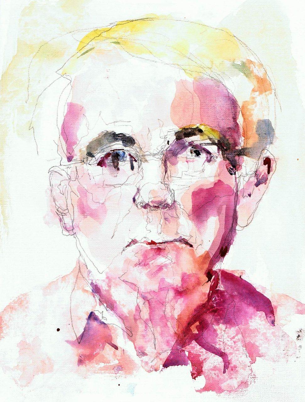 365 dagen een portret Wiegert, model Aquarel 19c25