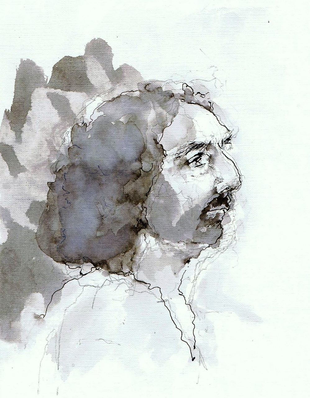 365 dagen een portret MIke, model Inkt gewassen 19c25