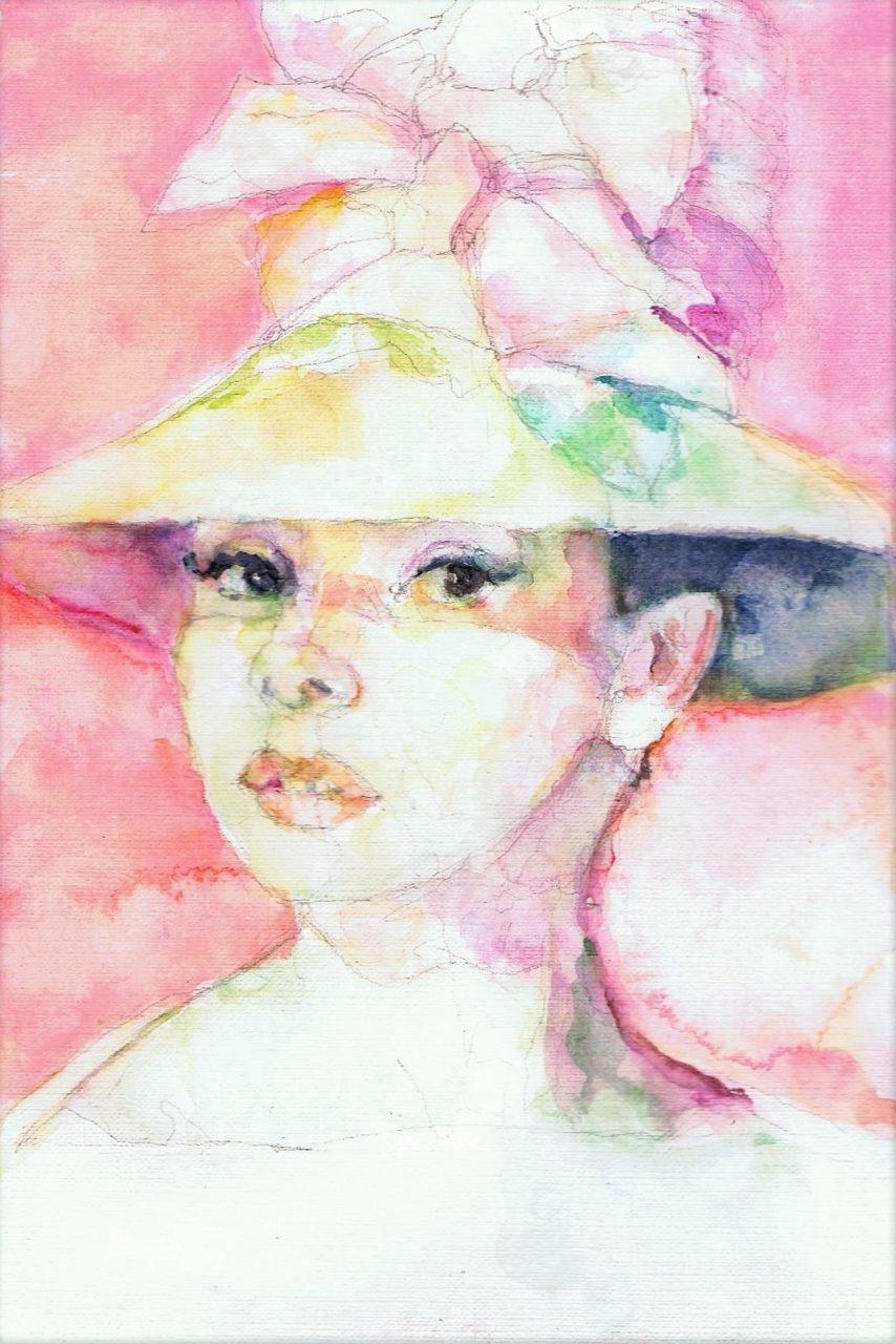 365 dagen een portret Audrey Hepburn, actrice Aquarel 19c25