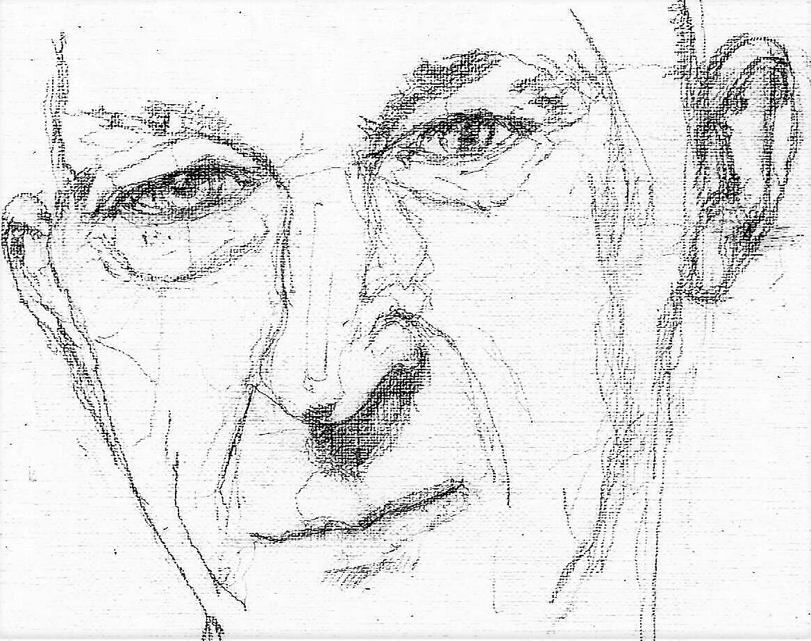 365 dagen een portret 28 Wilfried de Jong, theatermaker Potlood 19c25