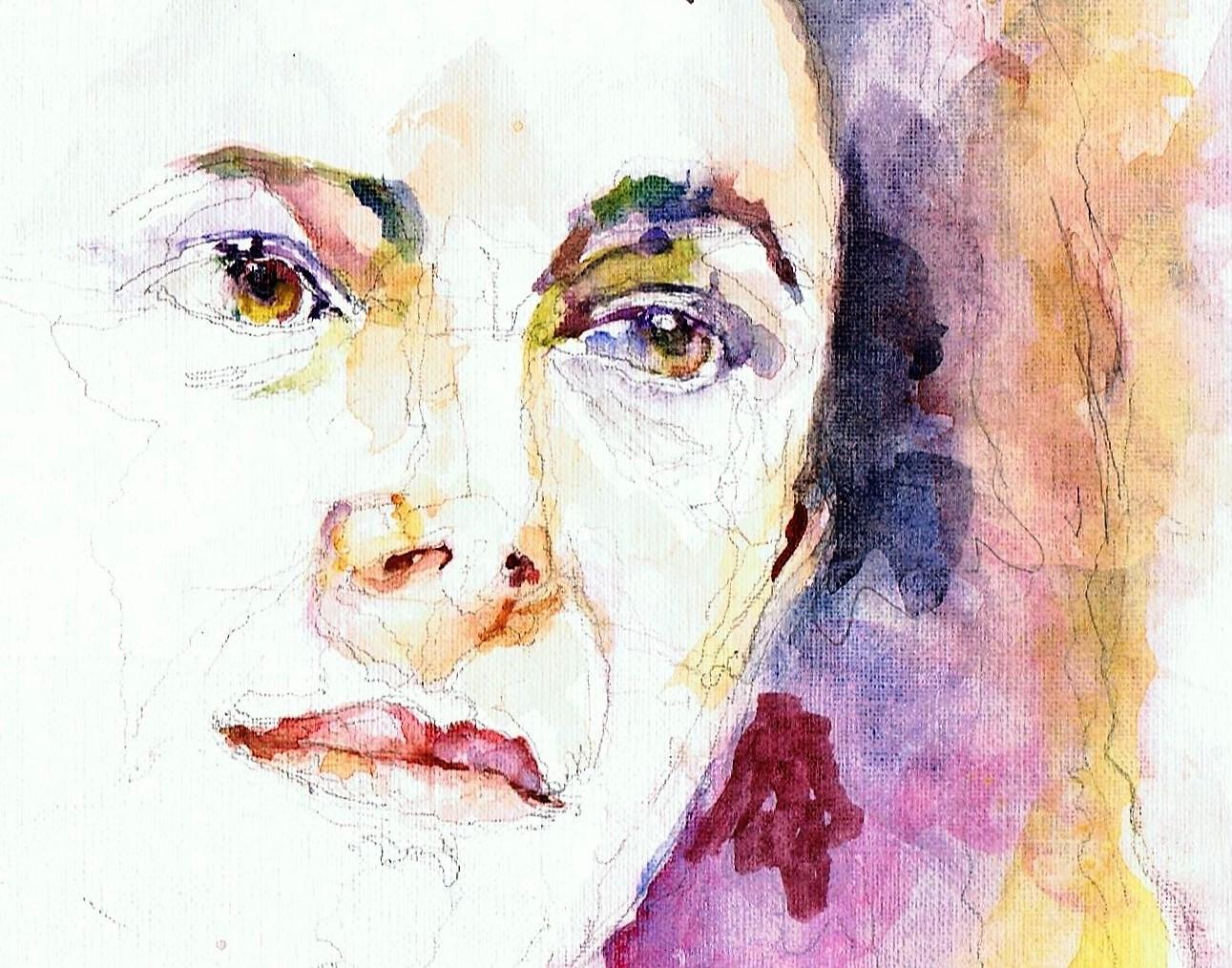 365 dagen een portret 169 Femke Halsema, politica Aquarel 19c25