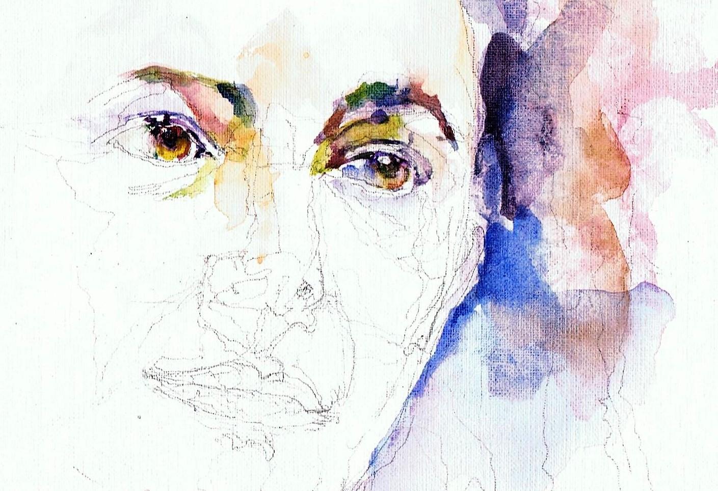 365 dagen een portret 168 Femke Halsema, politica Aquarel 19c25