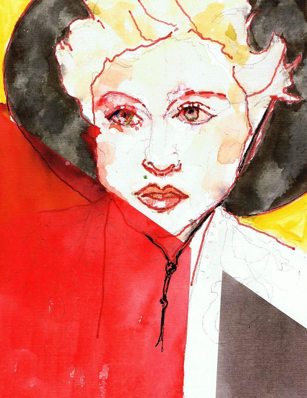 365 dagen een portret 162 Madonna, zangeres Viltstift en aquarel 19c25