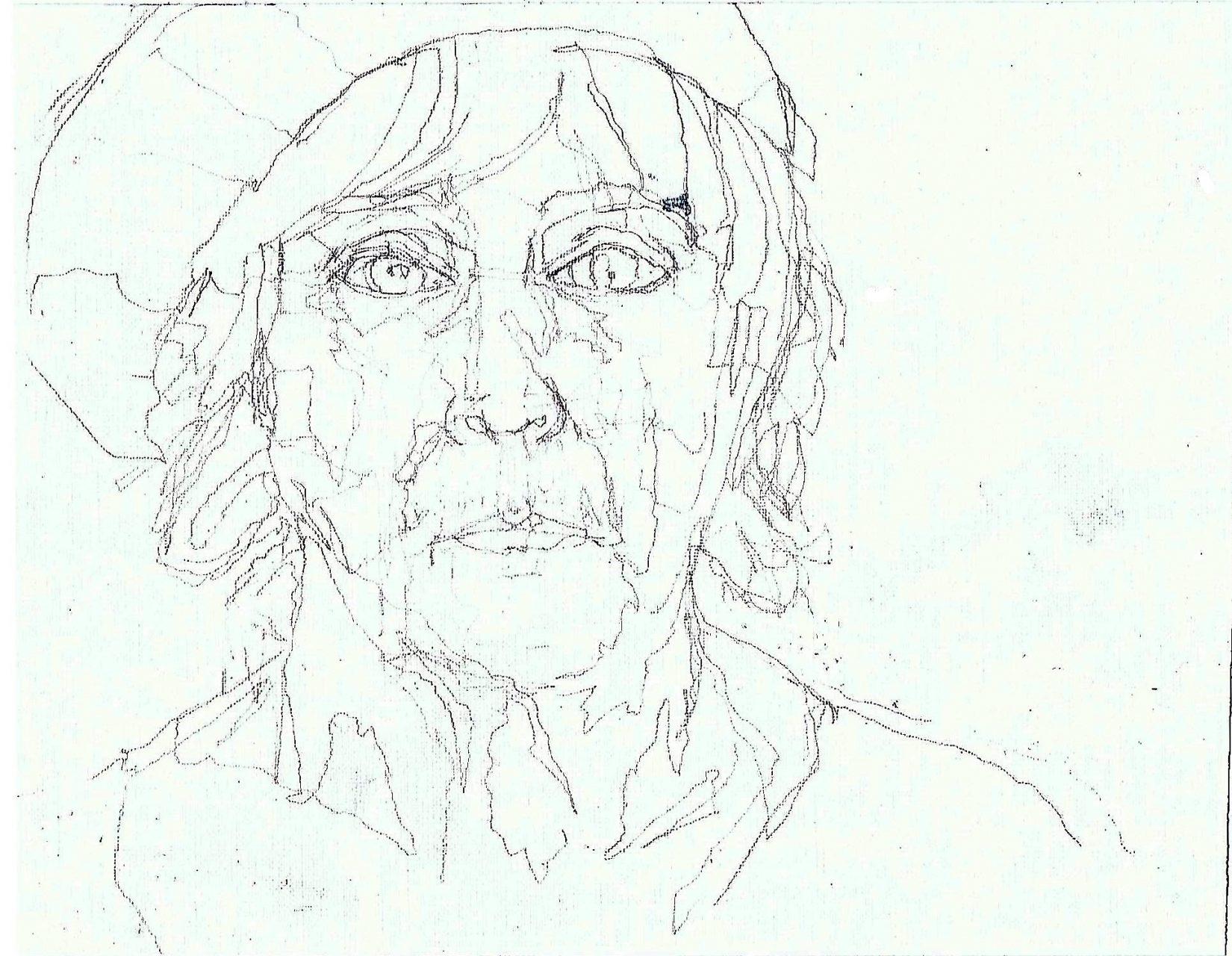 365 dagen een portret 148 Zelfportret met baret Potlood 19c25