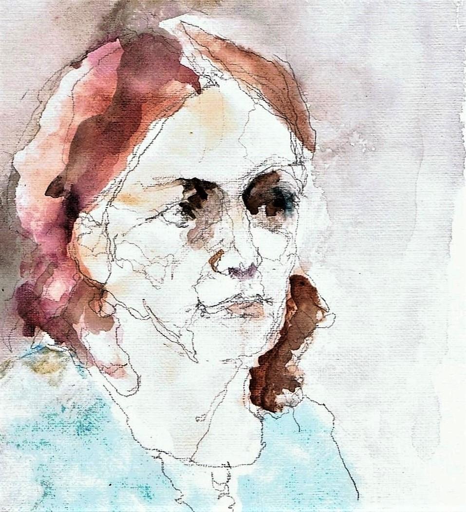 365 dagen een portret 145 Sepideh, Iraans model Aquarel 19c25
