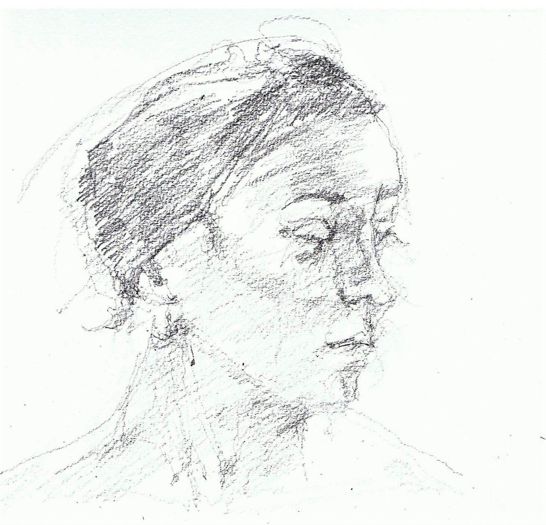 365 dagen een portret 136 Athene Potlood 19c25