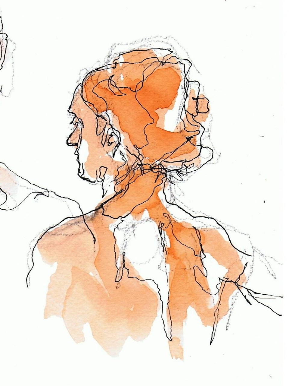 365 dagen een portret 129 Suzanne Inkt met ecoline 19c25