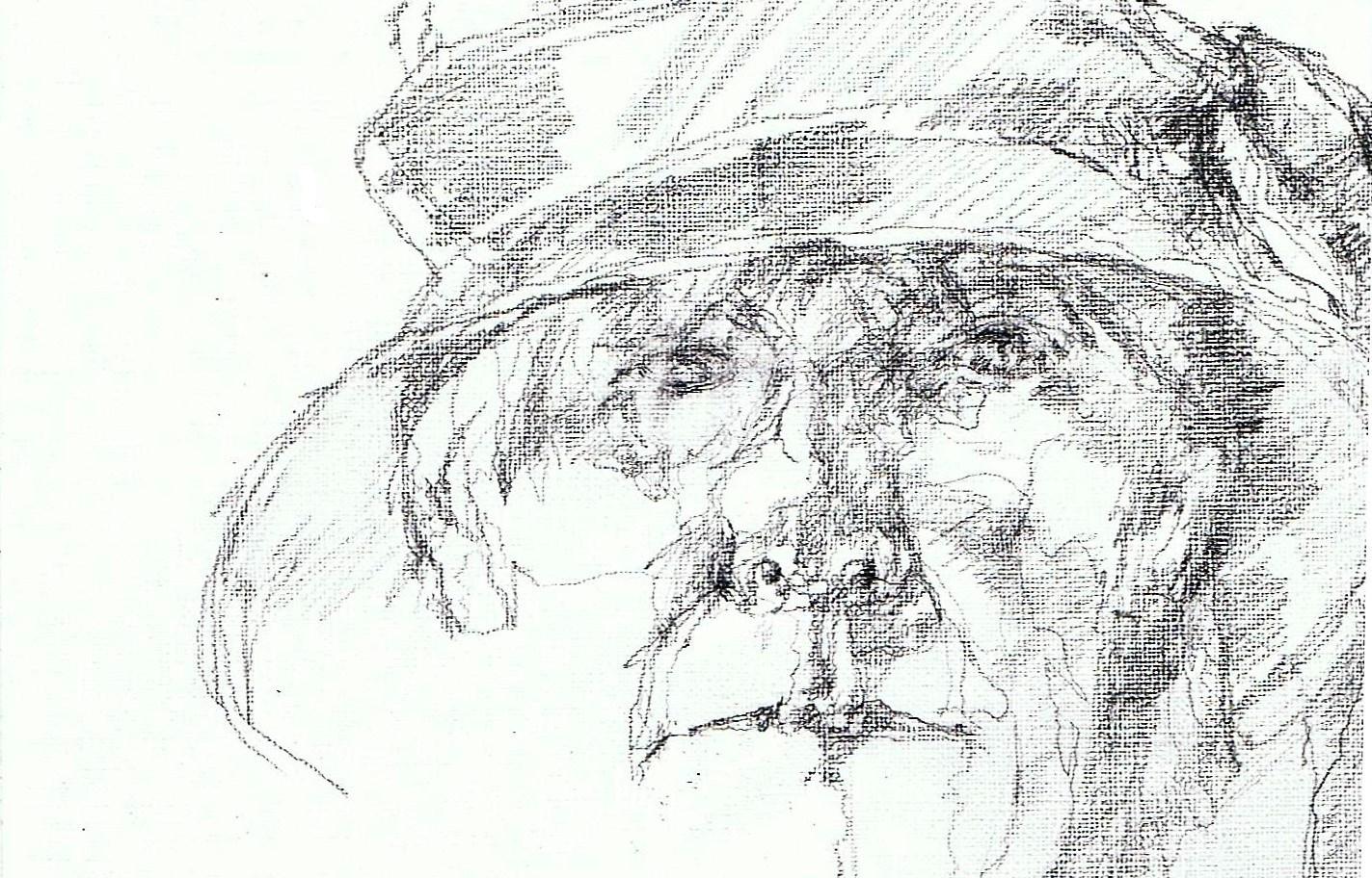 365 dagen een portret 126 Zelf met hoed Potlood 19c25
