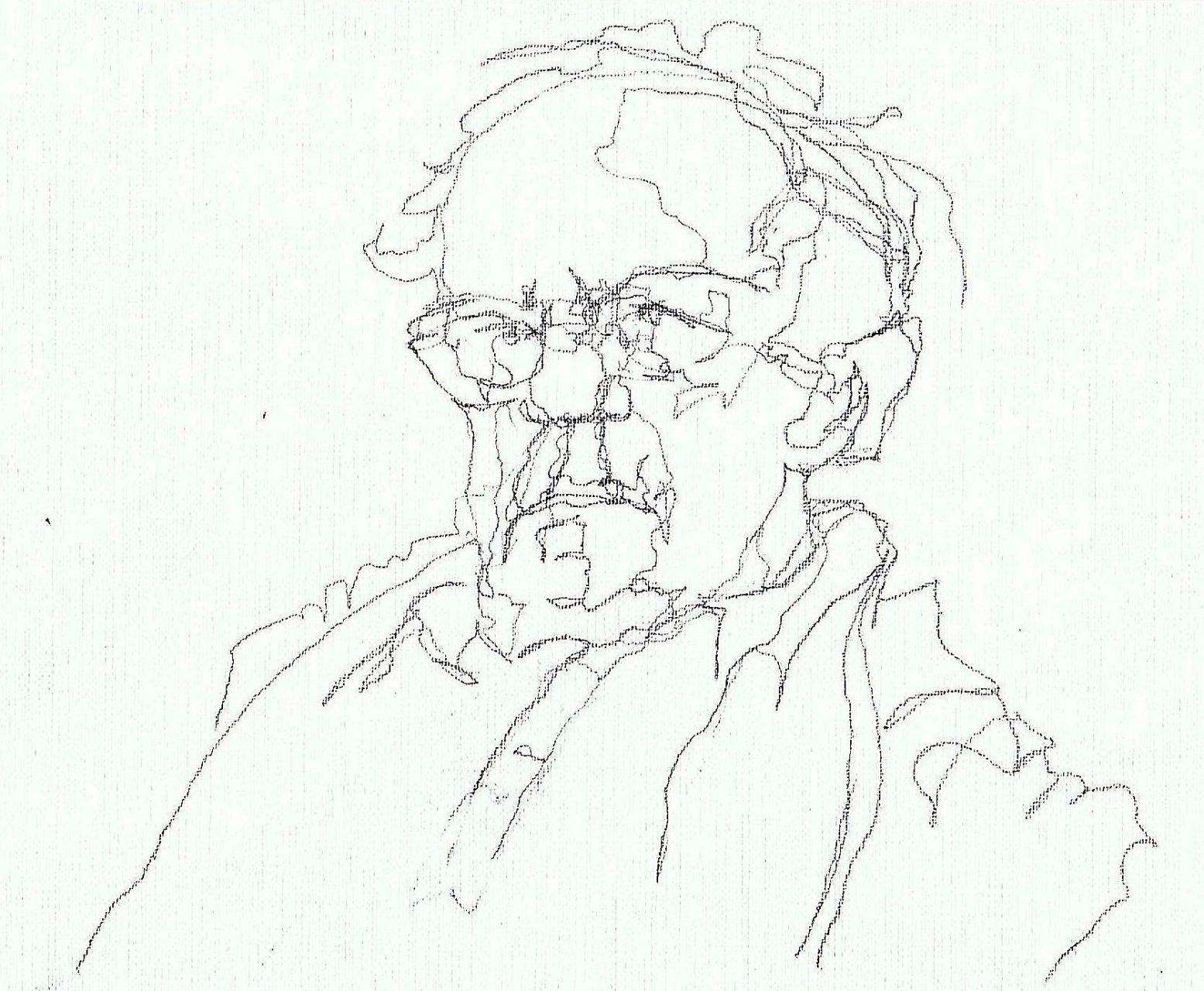 365 dagen een portret Gerard Nijhof Potlood 19c25