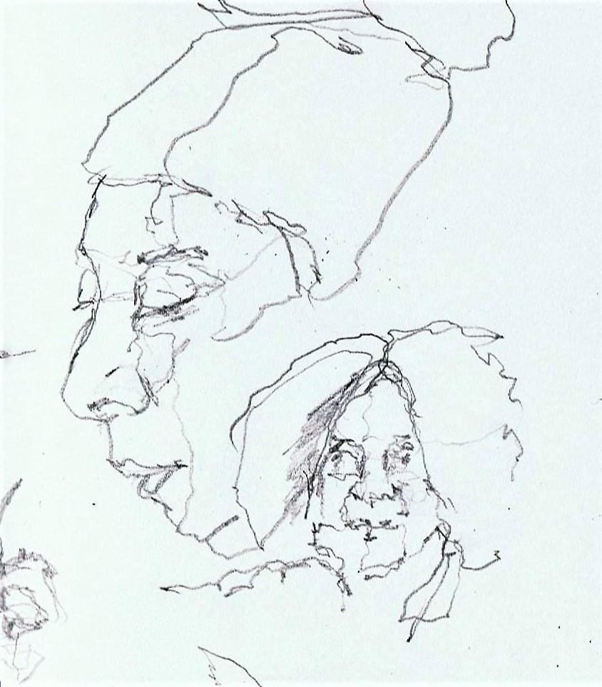 365 dagen een portret 124 Schetsboek Potlood 19c25