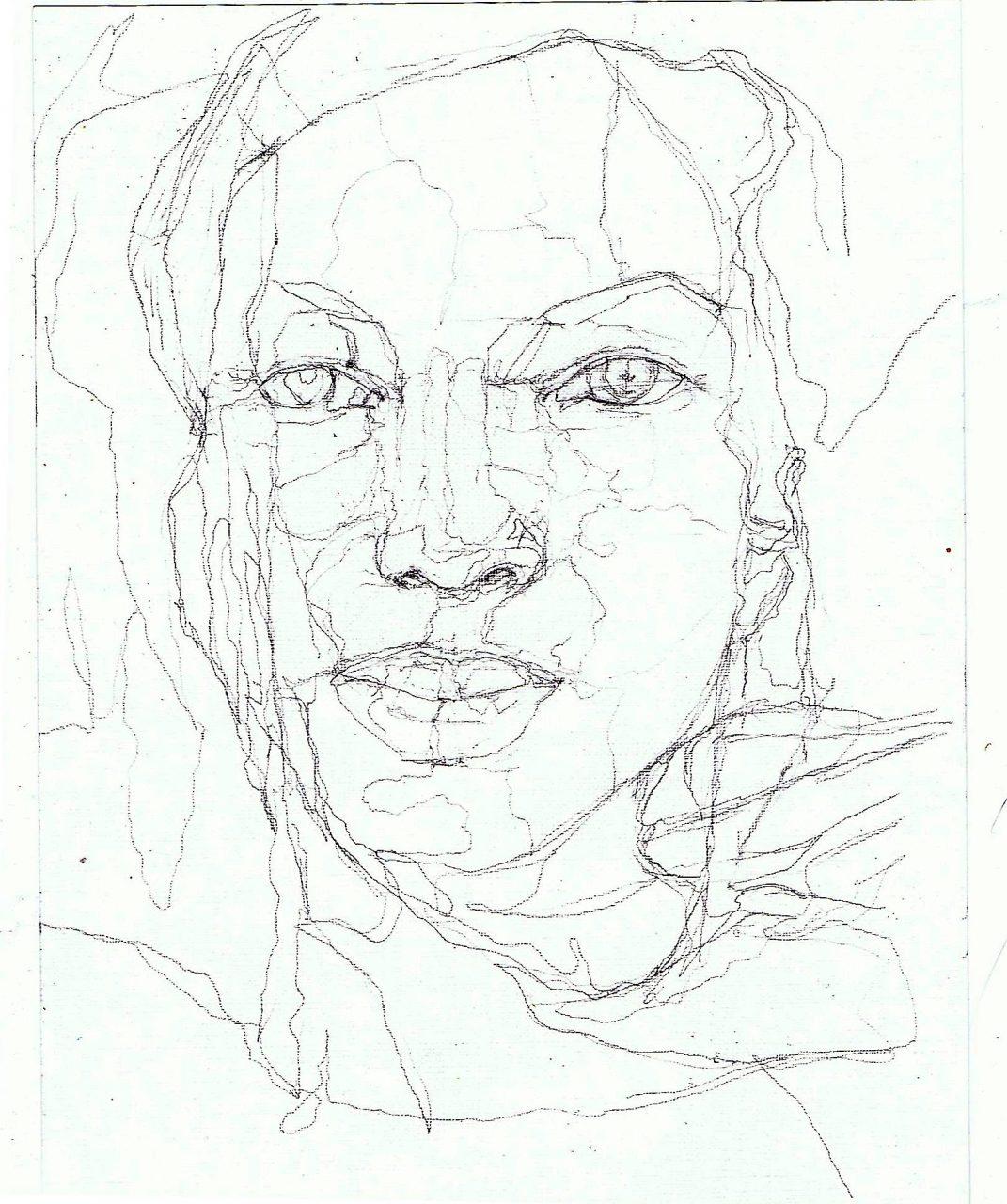 365 dagen een portret 120 Afro-Amerikaanse met vlechten Potlood 19c25