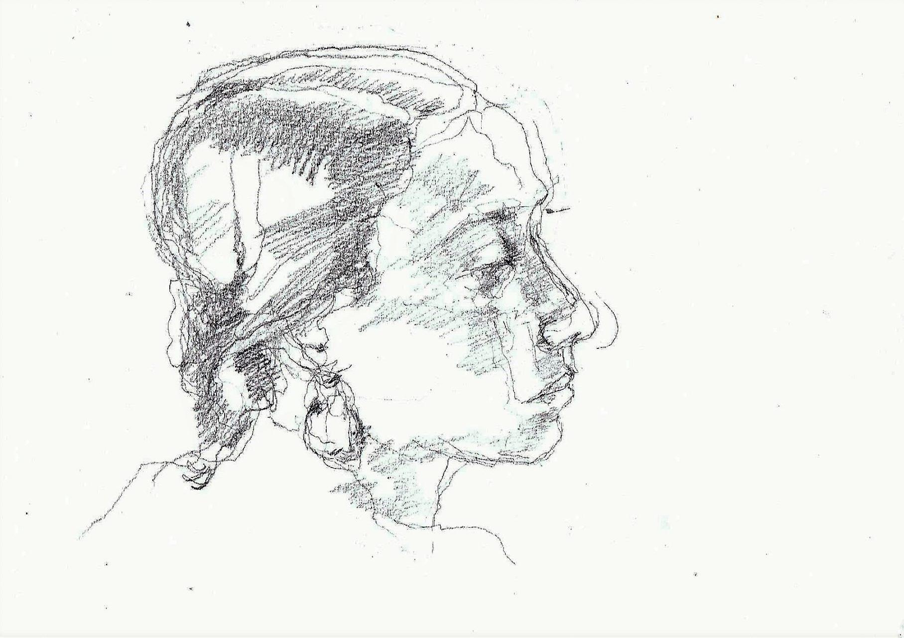 365 dagen een portret 105 Griekse, model Potlodd 19c25