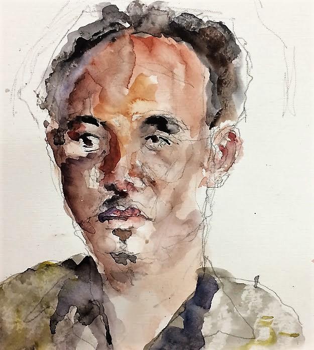365 dagen een portret 104 Moce,, model Aquarel 19c25