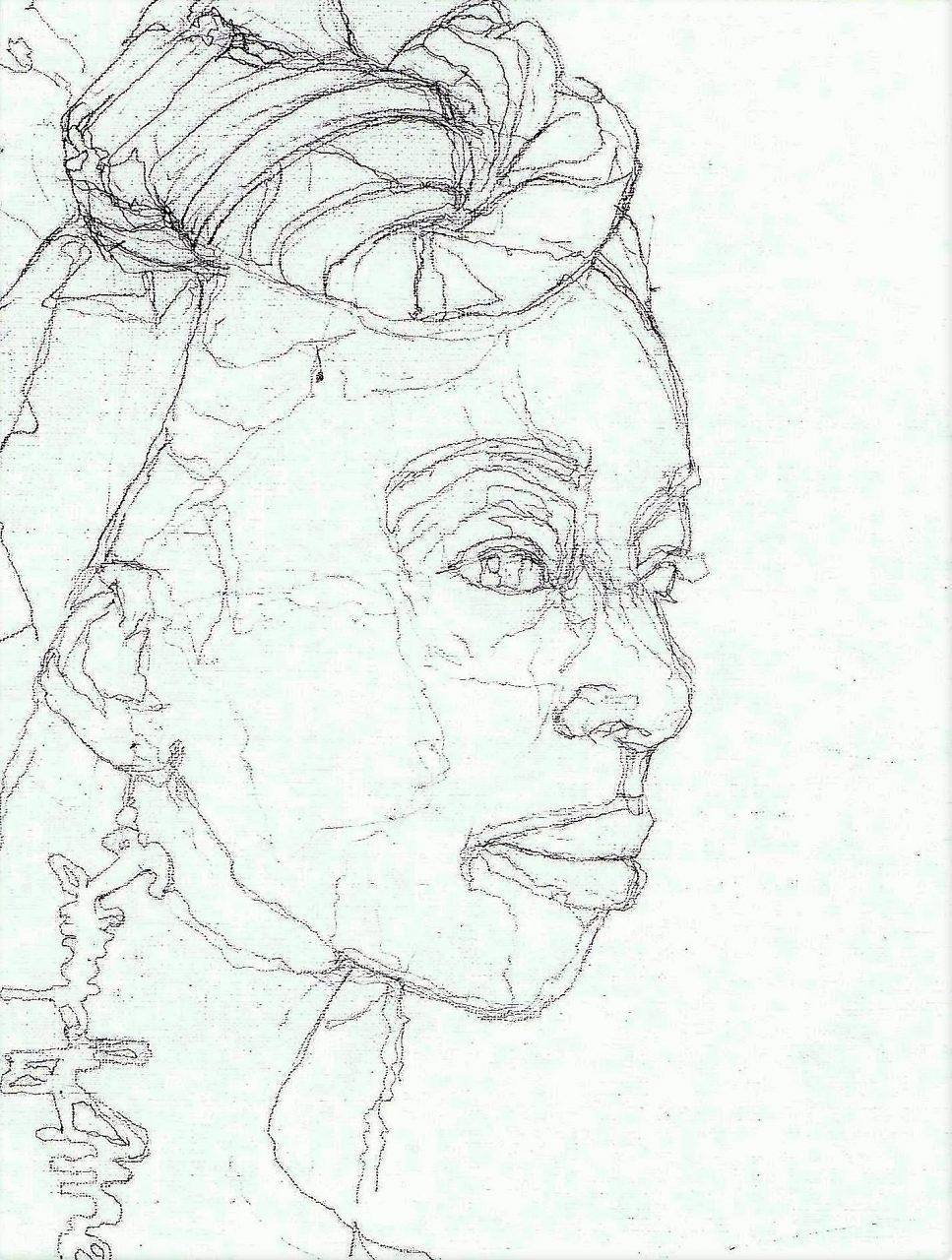 365 dagen een portret 101 Afrikaanse vrouw met oorbel Potlood 19c25