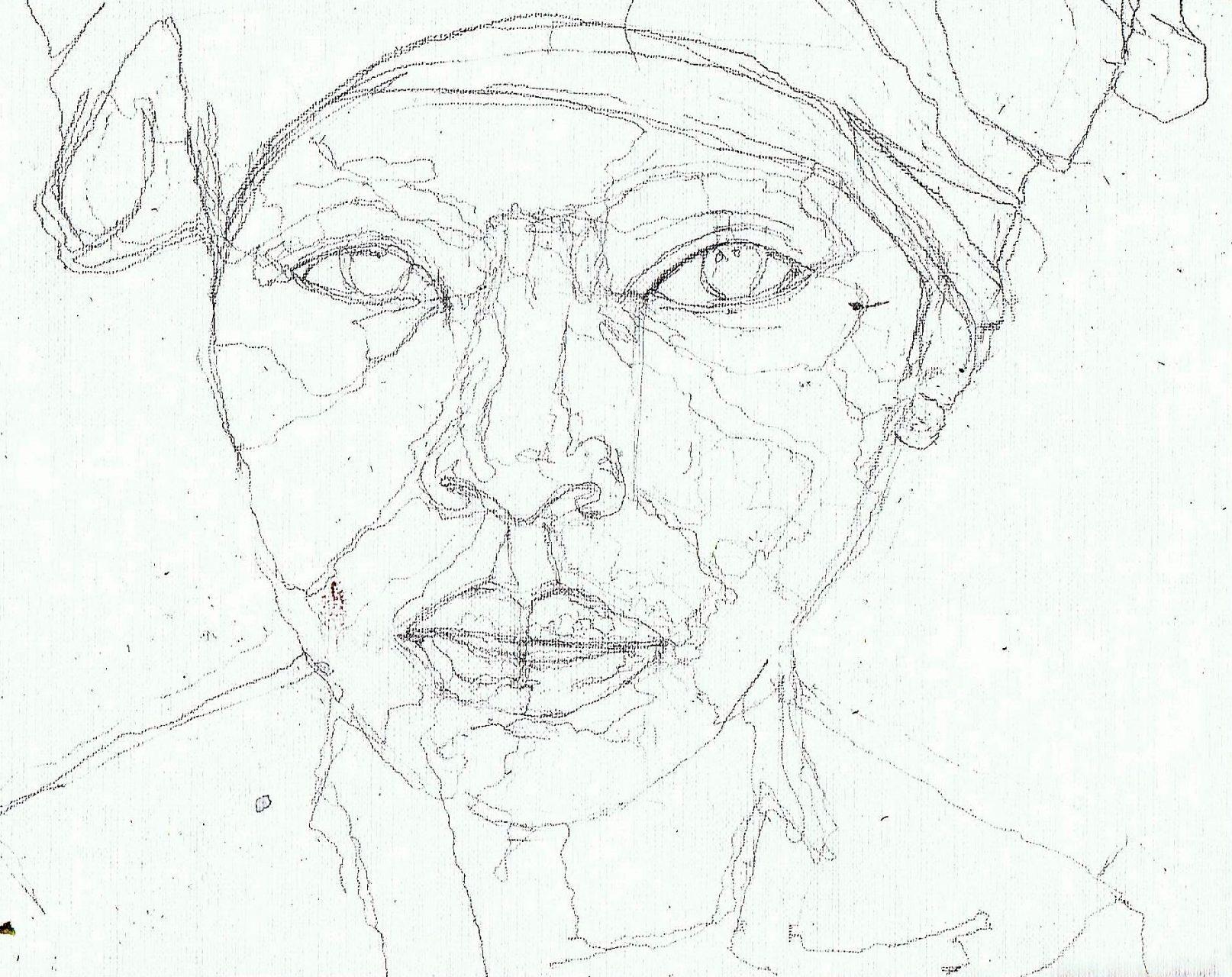 365 dagen een portret 98 Afrikaanse vrouw met roze doek Porlood 19c25