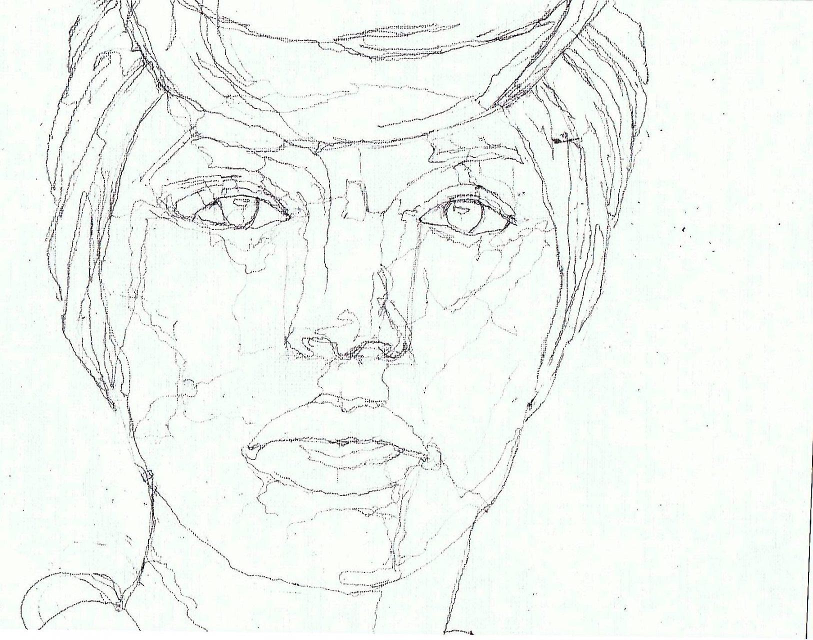 365 dagen een portret 96 Afro-Amerikaanse met hoofddoek Potlood 19c25