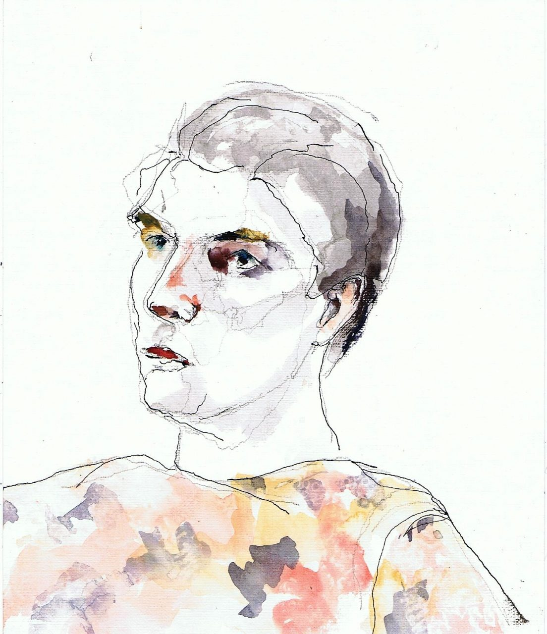 Arnold 2017 Inkt en aquarel 19x35