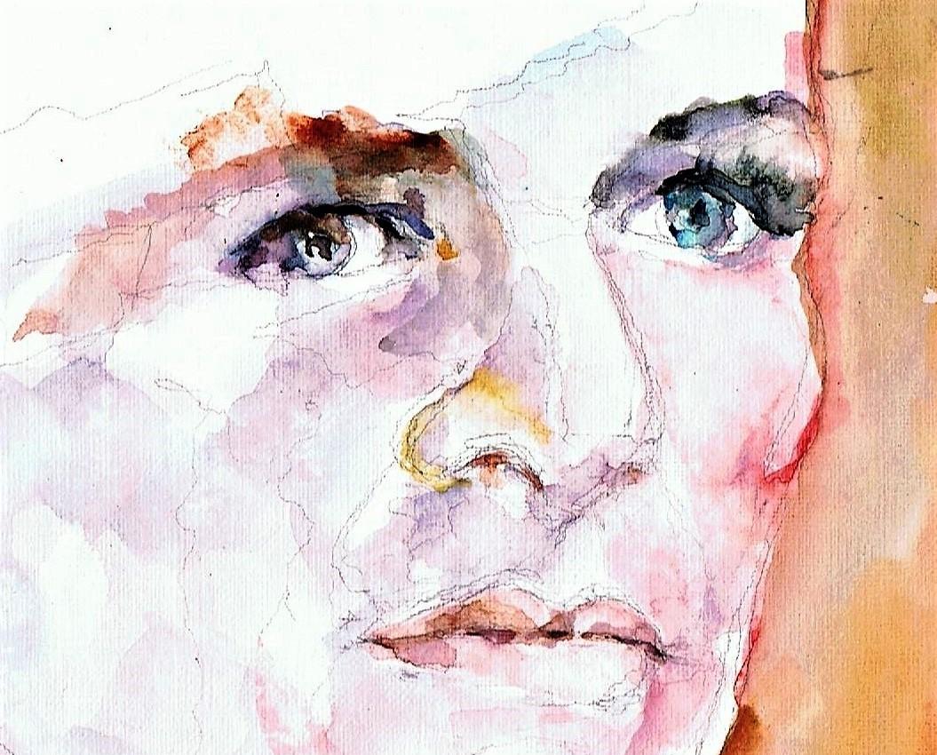365 dagen een portret 90 Linda van Dijck, actrice Aquarel 19c25
